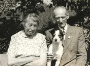 děda Viktora s družkou, Mšec 1952