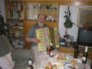 Švagr Karel při oslavě jeho už 70'tin